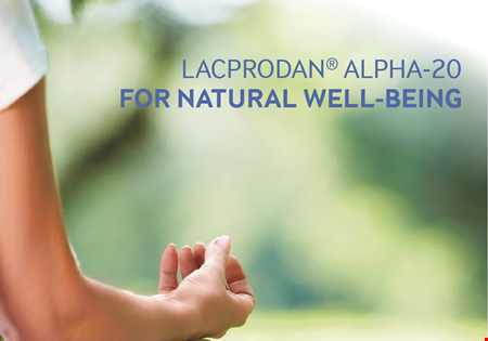 Lacprodan® Alpha-20 for natural well-being brochure
