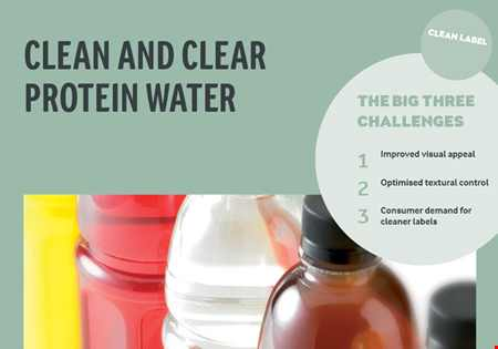 Clean and clear protein water brochure