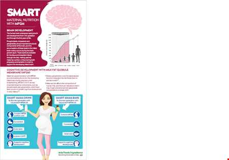 SMART Maternal nutrition with MFGM Infographic